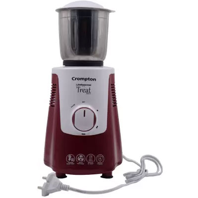 Crompton Treat 500X Mixer Grinder 500 Watt 3 Jars (Red & White)