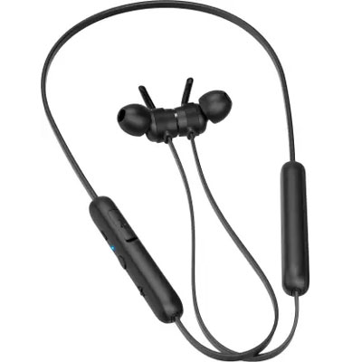 Philips TAE1205BK/00 Bluetooth Neckband with 7 Hours of Playtime USB-C Type Quick Charge, Magnetic Tips (Black)