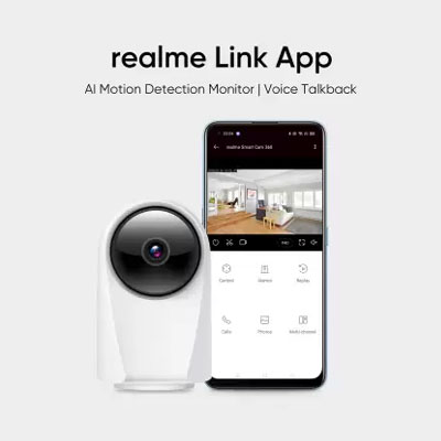 Realme 360 Deg 1080p Wifi Smart Security Camera (4 Channel)