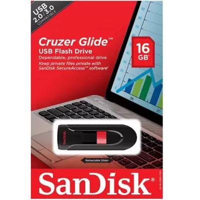 Sandisk 16GB Cruzer Glide SDCZ600-016G-B35 16GB USB 3.0 Pen Drive (Black)