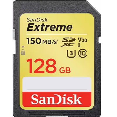 Sandisk Extreme 128 GB SDHC Class 10 150 MB/s Memory Card