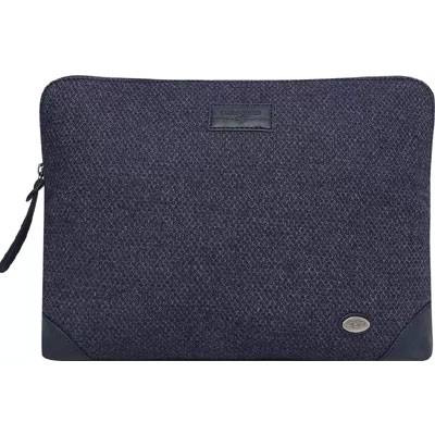 Swisstek Laptop Sleeves Woolen LS-010 (Black & Grey)