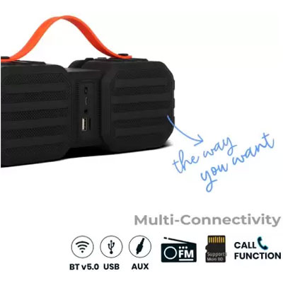 Zebronics Sound Feast 50 14 W Bluetooth Speaker Black