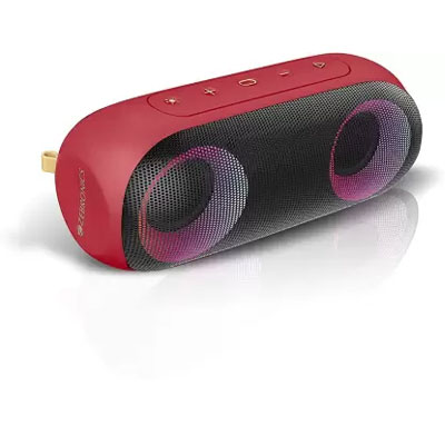 Zebronics Zeb-Music Bomb X Wireless 20W Portable Speaker (Red)