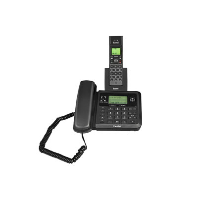 Beetel X78 Cordless Landline Phone (Black)