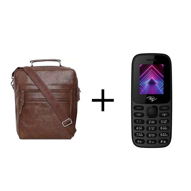 Buy Swisstek BP-014 3 in 1 Pu BackPack & Get Itel it2171 Mobile Openbox Free