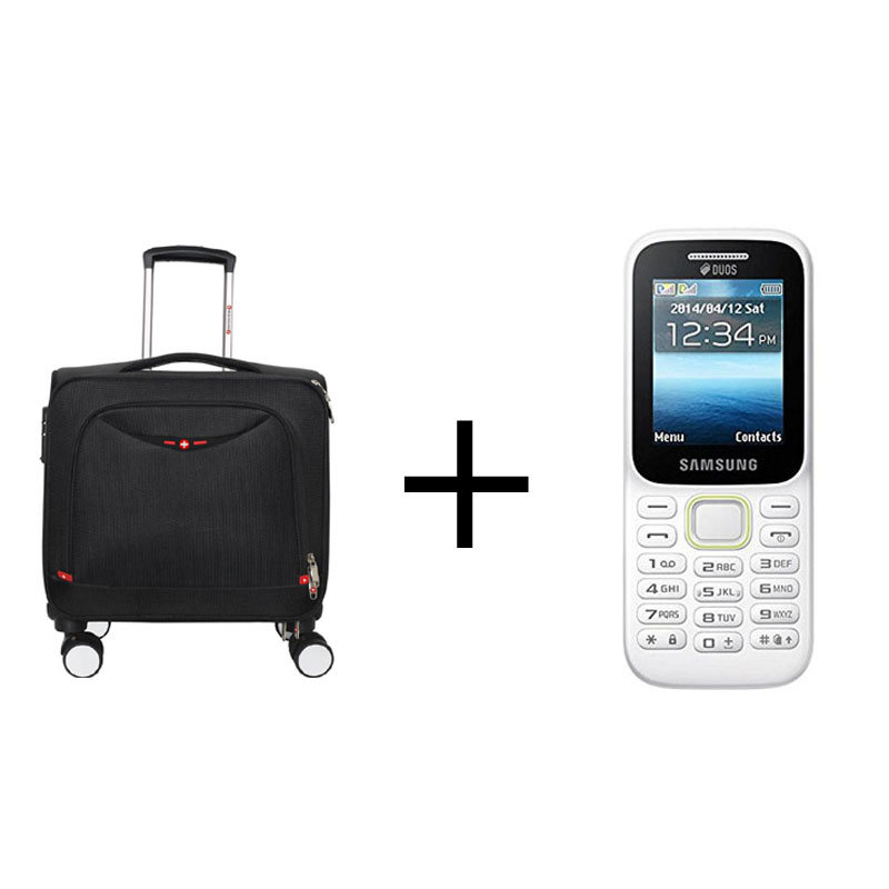 Buy Swisstek Trolley Laptop (LTB010) (Black) & Get Samsung Guru B310 Multicolour Mobile Openbox Free