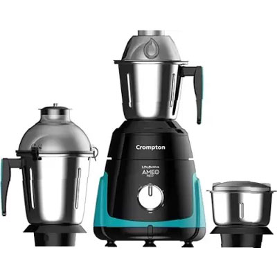 Crompton Life Active series AMEO NEO 750 Mixer Grinder (Green black, 3 Jars)