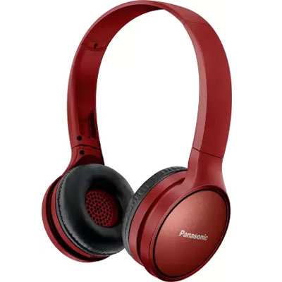 Panasonic RP-HF410BGCR Street Wireless Bluetooth Headphones (Red)