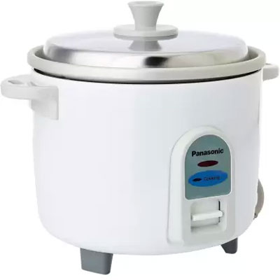Panasonic SR-WA10 450-Watt Automatic Cooker Without Warmer (White)(Raw Capacity-0.6 kgs)