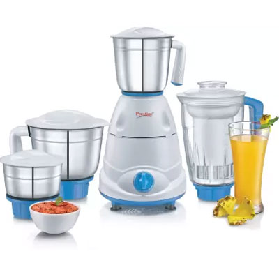 Prestige Atlas Plus 750 W Juicer Mixer Grinder  (Blue, White, 4 Jars)