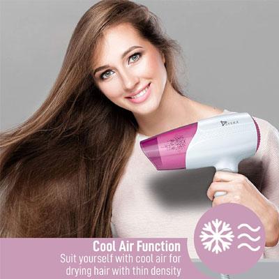SYSKA HD1810i 1800Watt Keratin Plus Hair Dryer with Heat Balance Technology (3 Speed/Heat, Cold Air Function) (Pink)
