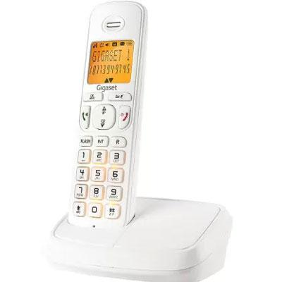 Siemens Gigaset A500 Cordless Landline Phone (White)