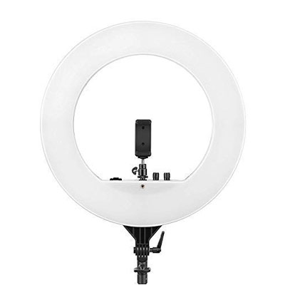 Simpex LED 522 Ring Light 18 inch, Dimmable 3200k-5600K, Studio Lighting with Phone Holder, Hot Shoe, Carrying Bag for Makeup Artist, YouTube Videos