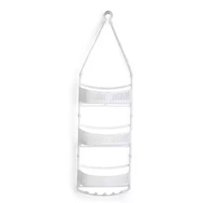 Solomon Shower Caddy 3 LAYER Plastic HANGING Wall Shelf WHITE
