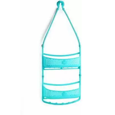 Solomon Shower Caddy 2 LAYER Plastic HANGING Wall Shelf (BLUE)