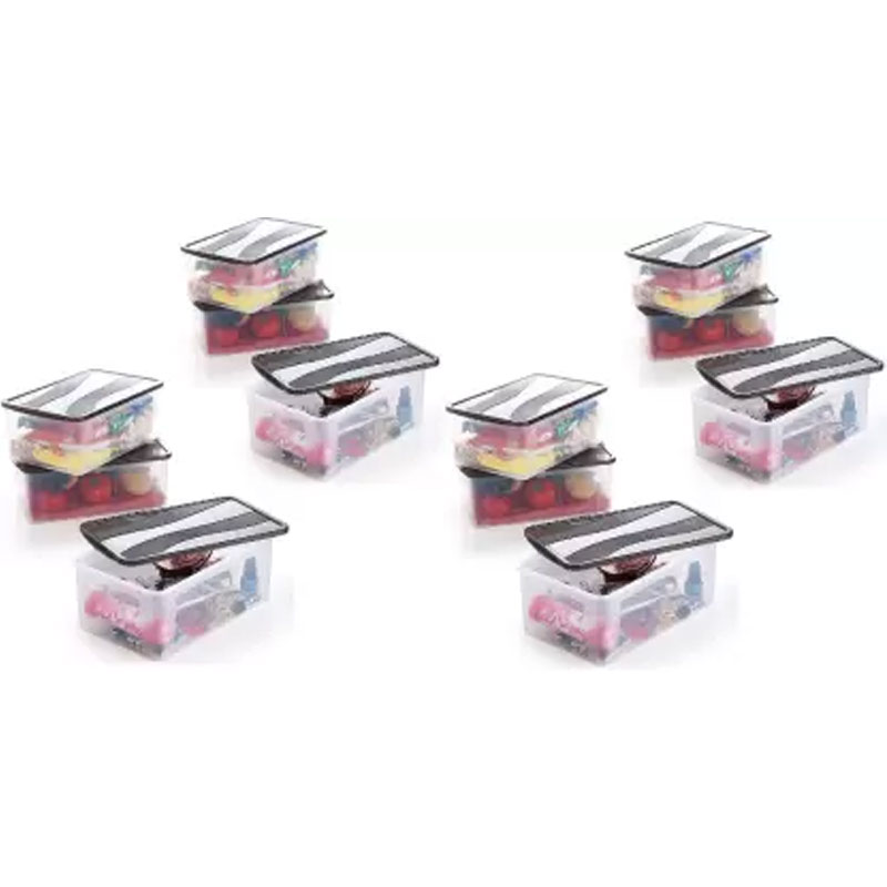 Solomon 2000ML PACK OF 12 BIG BRED Plastic Grocery Container (BROWN)