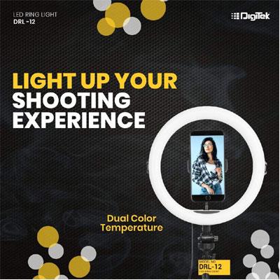 DIGITEK 12 inch Professional LED Ring Light (DRL-12H)