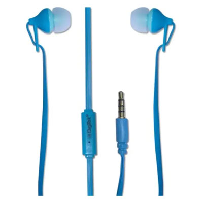Digitek DE-105 Stereo Dynamic Wired Headphones BLUE
