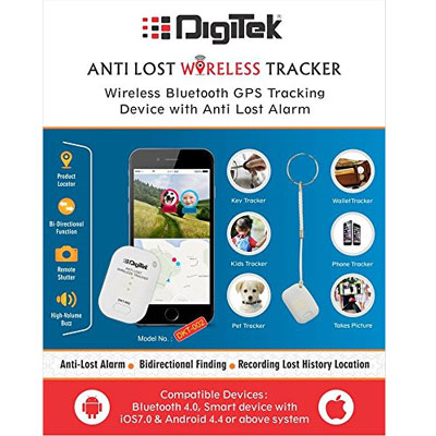 Digitek DTK 002 Wireless Bluetooth Anti-Theft Alarm Device Tracker/GPS Locator(White)