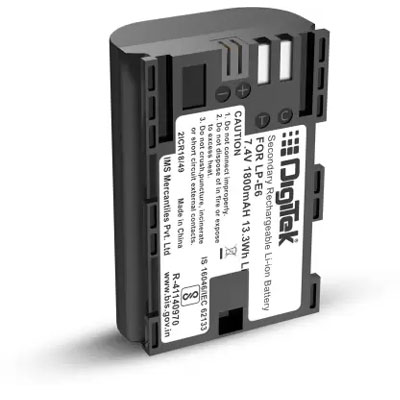 Digitek LP-E6 Rechargeable Battery for Canon DSLR Camera