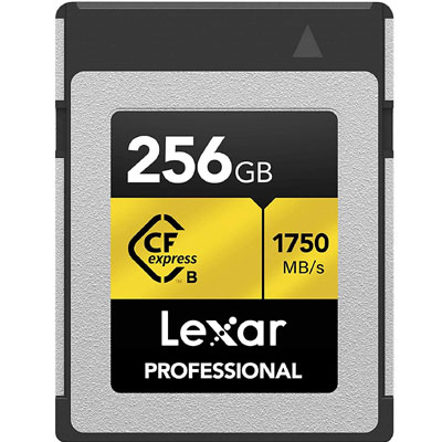 Lexar Professional CFexpress 256GB Type-B Card (LCFX10-256CRBNA)…