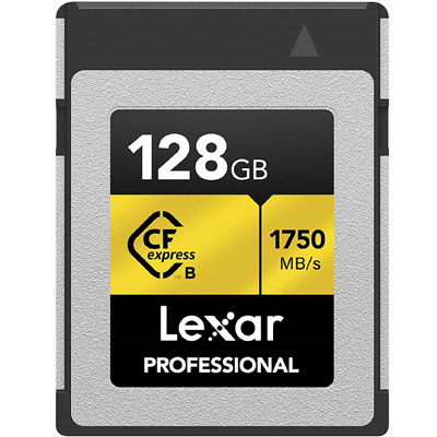 Lexar Professional CFexpress 128GB Type-B Card (LCFX10-128CRBNA)…