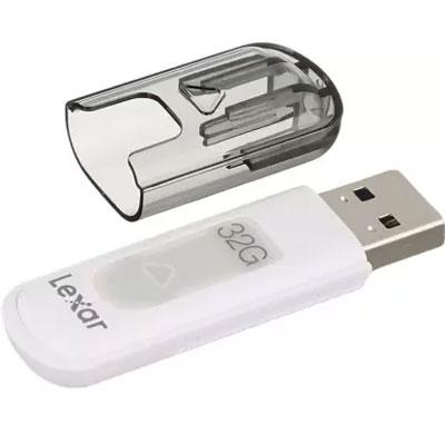 Lexar JumpDrive V100 32GB USB 3.0 Flash Drive (Gray)