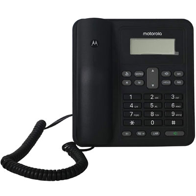 Motorola CT320I Corded Telephone with Display Corded Landline Phone (Black)