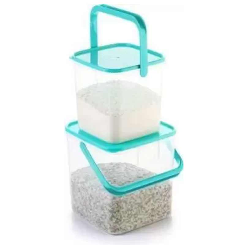 SOLOMON 3KG & 5KG SQUARE CONTAINER WITH BLUE CAP PACK OF 2