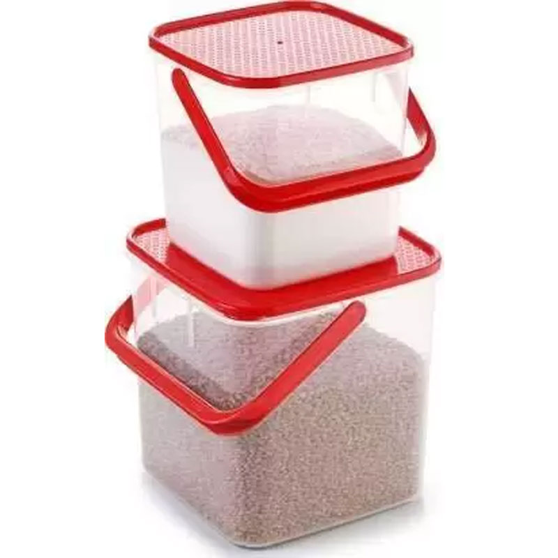 SOLOMON 3KG & 5KG SQUARE CONTAINER WITH RED CAP PACK OF 2