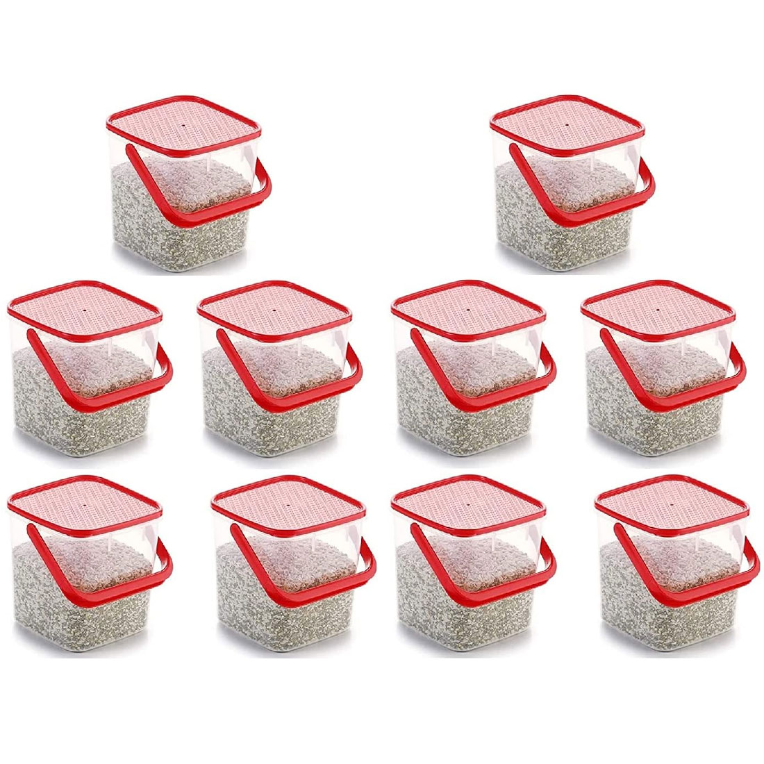 SOLOMON PREMIUM QUALITY 3KG SQUARE CONTAINER WITH RED CAP PACK OF 10