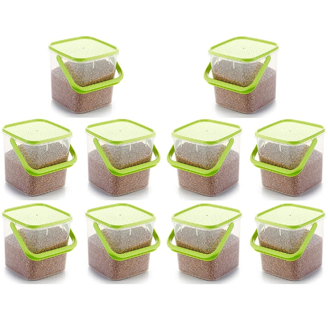 SOLOMON PREMIUM QUALITY 3KG SQUARE CONTAINER WITH GREEN CAP PACK OF 10