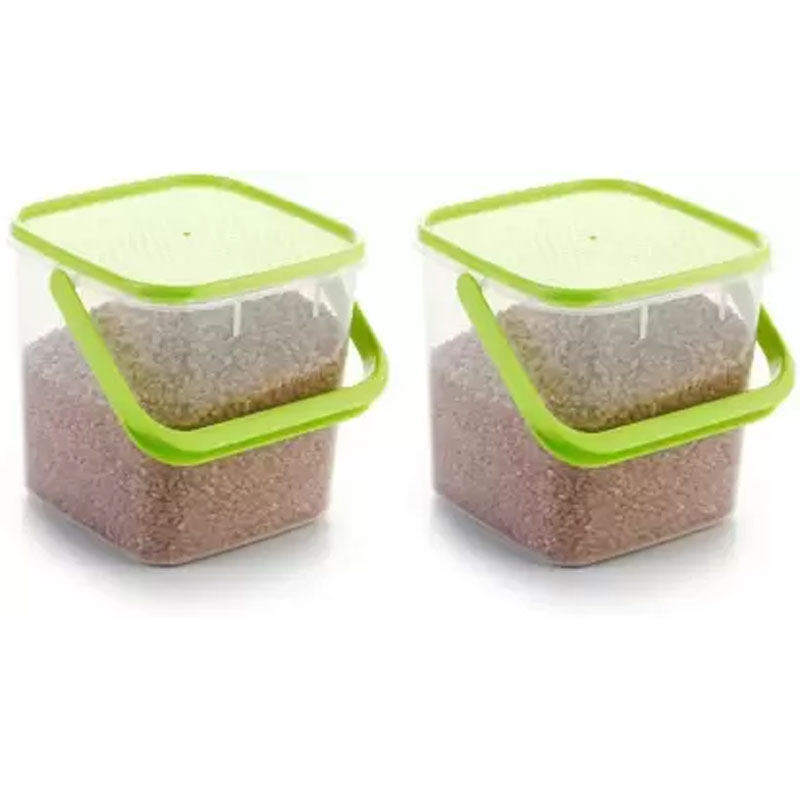SOLOMON 5KG SQUARE CONTAINER GREEN PACK OF 2