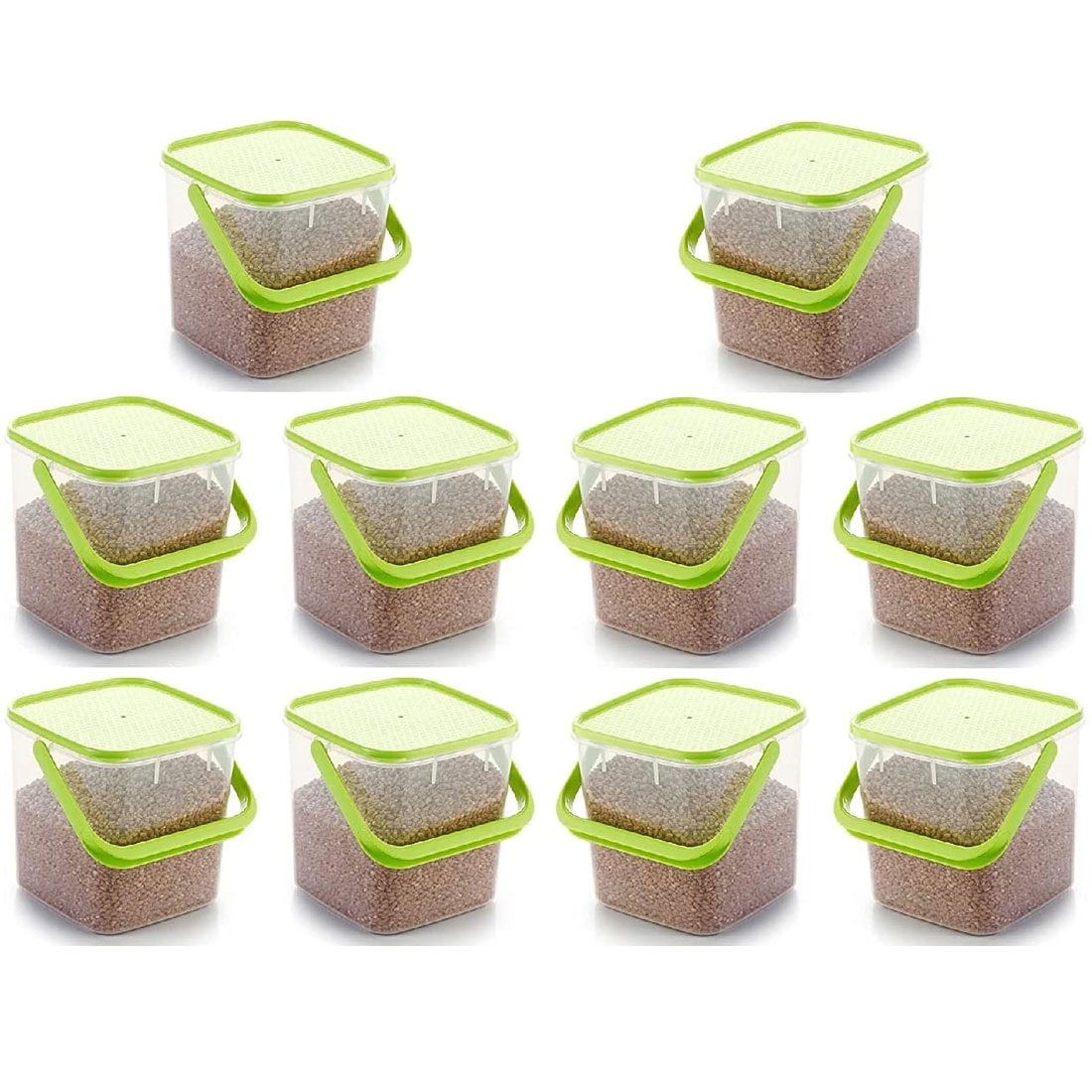 SOLOMON PREMIUM QUALITY 5KG SQUARE CONTAINER WITH GREEN CAP PACK OF 10