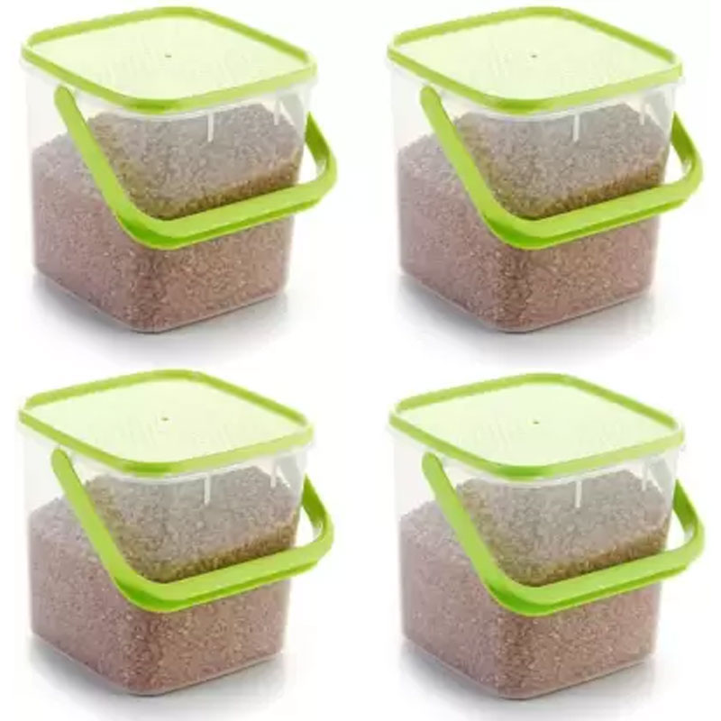 SOLOMON 5KG SQUARE CONTAINER GREEN PACK OF 4