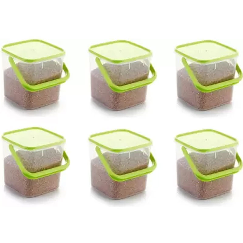SOLOMON 5KG SQUARE CONTAINER GREEN PACK OF 6