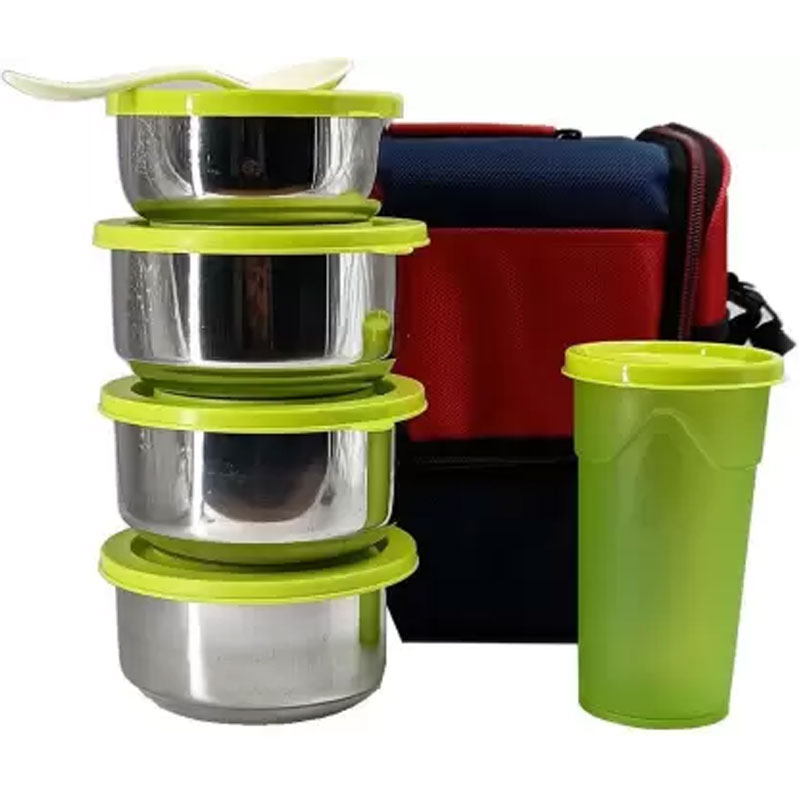 SOLOMON PREMIUM QUALITY COMPACT TIFFIN BOX (GREEN)