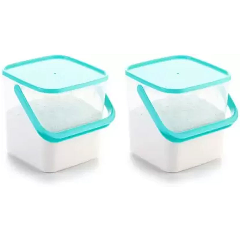 SOLOMON PACK OF 2 3KG SQUARE CONTAINER BLUE