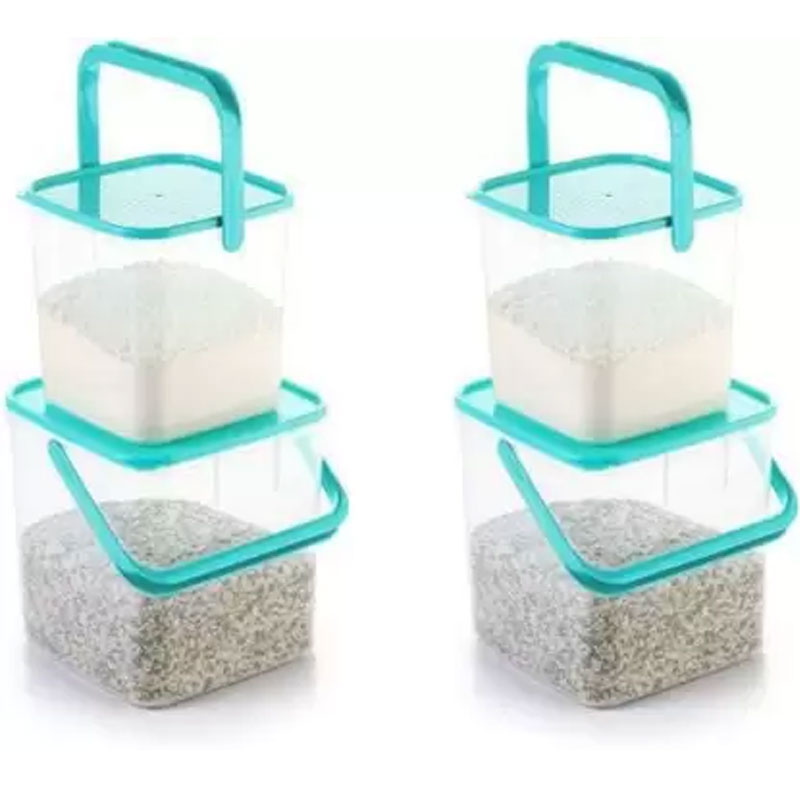 SOLOMON 3KG & 5KG SQUARE CONTAINER WITH BLUE CAP PACK OF 4