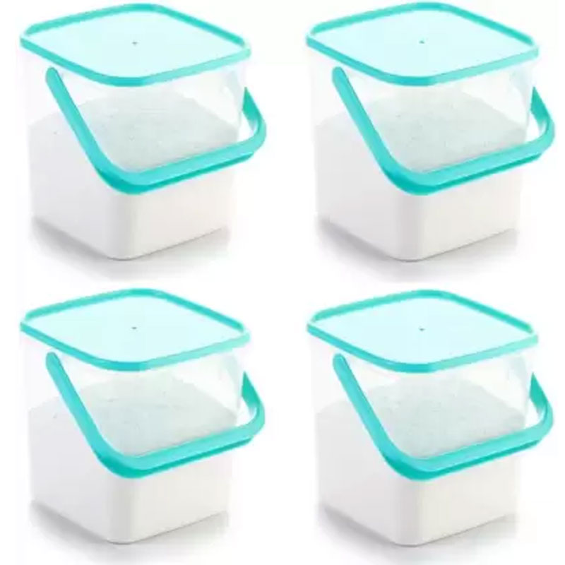 SOLOMON PACK OF 4 3KG SQUARE CONTAINER BLUE