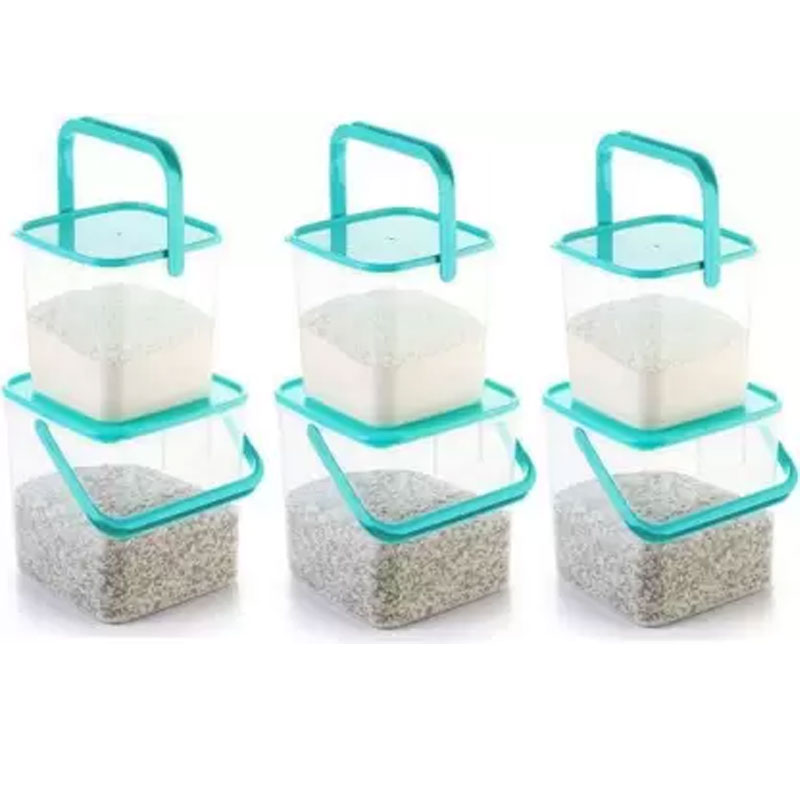 SOLOMON 3KG & 5KG SQUARE CONTAINER WITH BLUE CAP PACK OF 6