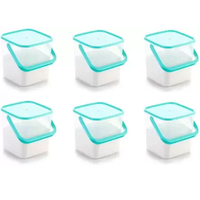 SOLOMON PACK OF 6 3KG SQUARE CONTAINER BLUE