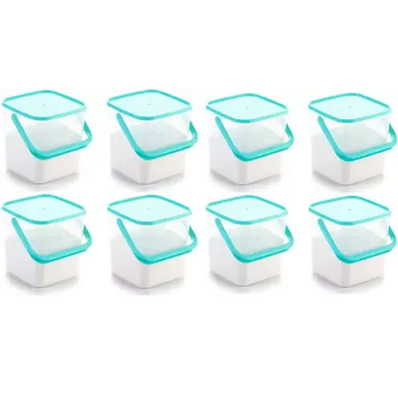SOLOMON PACK OF 8 3KG SQUARE CONTAINER BLUE