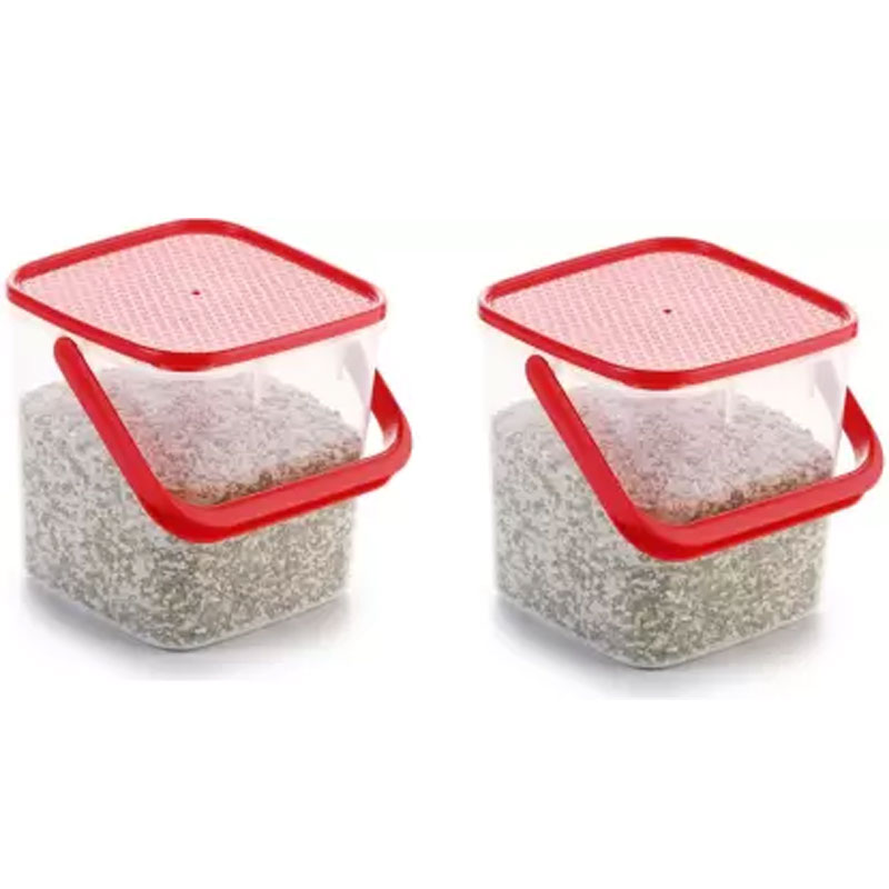 SOLOMON PREMIUM QUALITY 3KG SQUARE CONTAINER WITH RED CAP PACK OF 2
