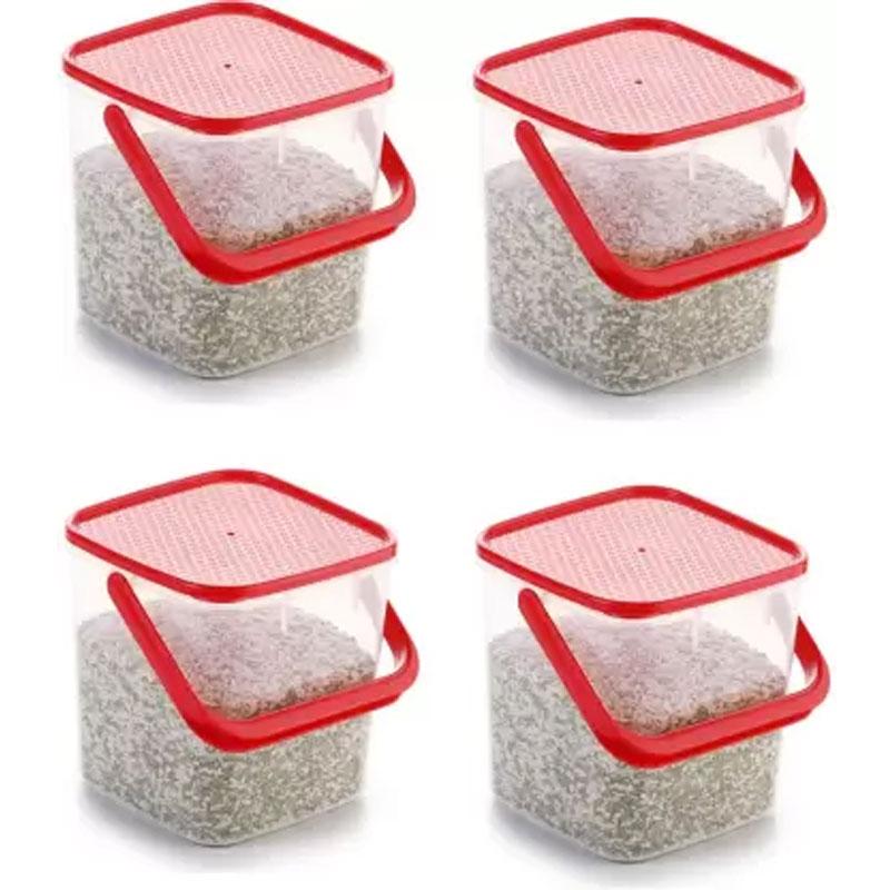 SOLOMON PREMIUM QUALITY 3KG SQUARE CONTAINER WITH RED CAP PACK OF 4