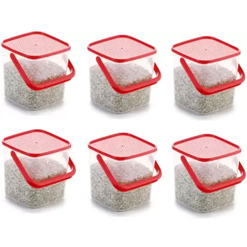 SOLOMON PREMIUM QUALITY 3KG SQUARE CONTAINER WITH RED CAP PACK OF 6