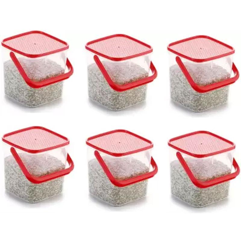 SOLOMON PREMIUM QUALITY 3KG SQUARE CONTAINER WITH RED CAP PACK OF 6