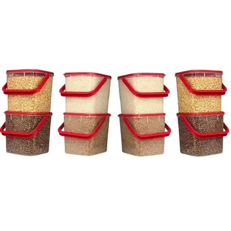 SOLOMON PREMIUM QUALITY 3KG SQUARE CONTAINER WITH RED CAP PACK OF 8
