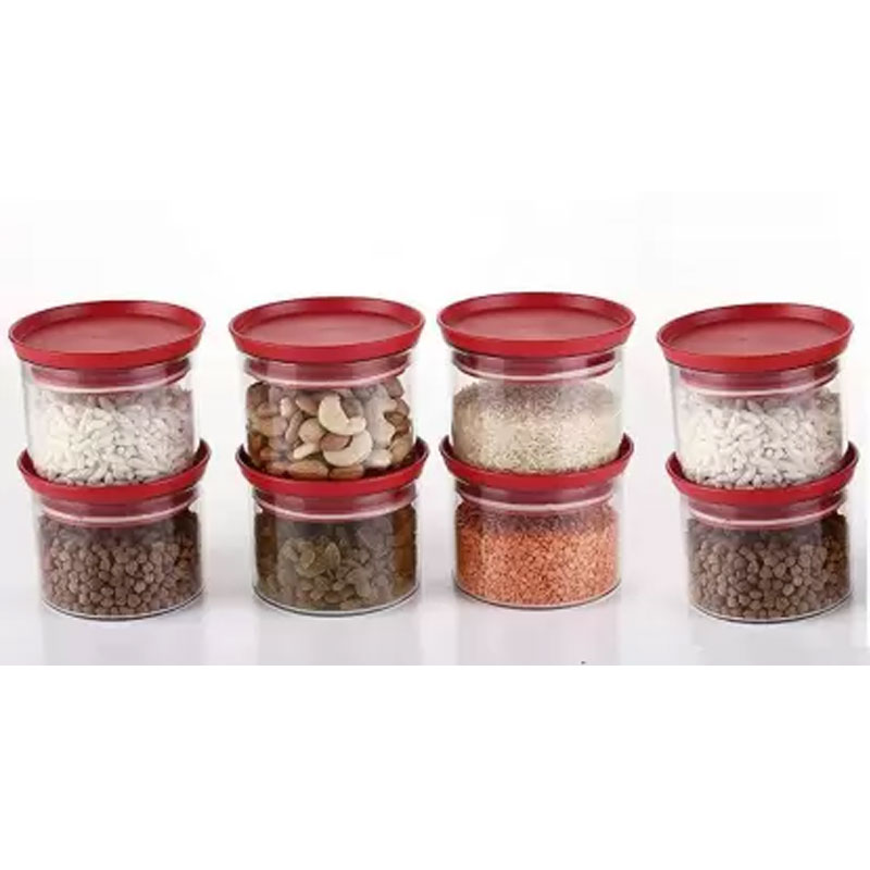 SOLOMON 500ML XLLENT CONTAINER (RED) PACK OF 8